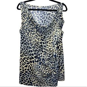 Lane Bryant Cheetah Cowl Neck Tank 18/20